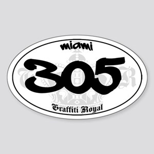 """MIAMI 305"" Graffiti Oval Sticker"
