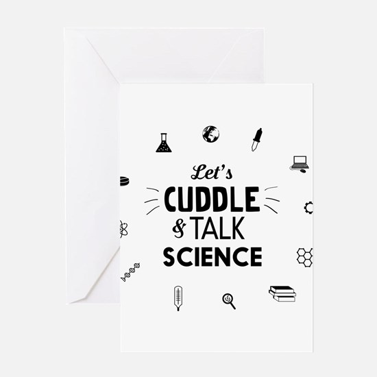 Lets cuddle and talk science icons T-shirts Greeti