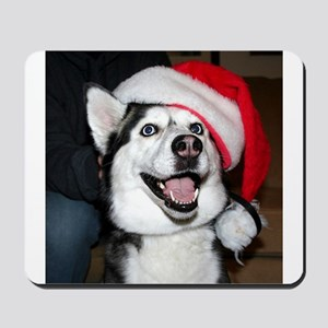 Christmas Husky Mousepad