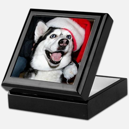 Christmas Husky Keepsake Box