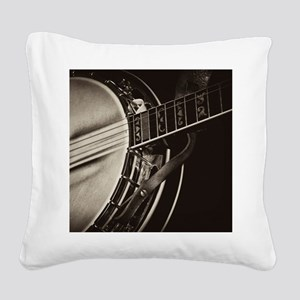 Bluegrass Banjo Square Canvas Pillow
