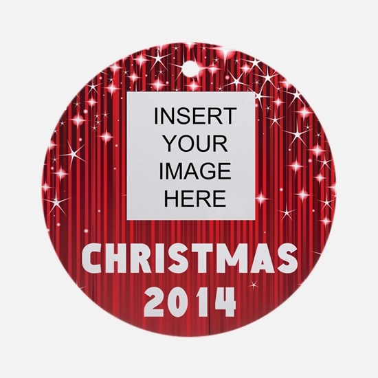 Personalize Christmas Picture Ornament (Round)
