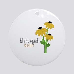 Black-Eyed Susan Ornament (Round)