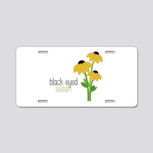 Black-Eyed Susan Aluminum License Plate