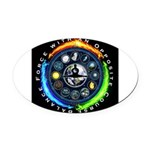 Balance Force Oval Car Magnet