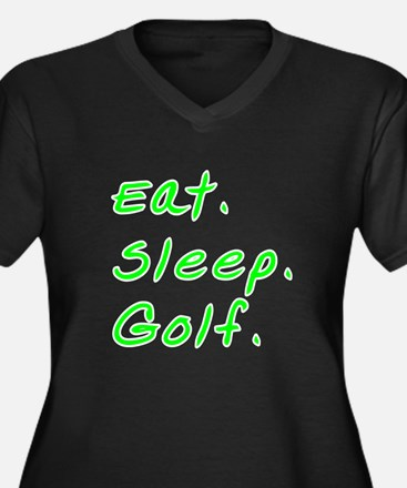 Eat. Sleep. Women's Plus Size V-Neck Dark T-Shirt
