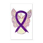 Purple Ribbon Angel Wall Decal