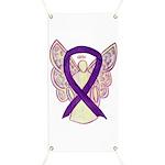 Purple Ribbon Angel Banner
