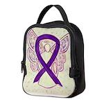 Purple Ribbon Angel Neoprene Lunch Bag