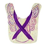 Purple Ribbon Angel Bib