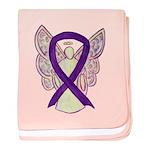 Purple Ribbon Angel baby blanket