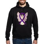 Purple Ribbon Angel Hoodie