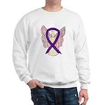 Purple Ribbon Angel Sweatshirt