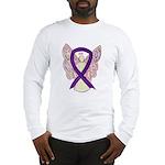 Purple Ribbon Angel Long Sleeve T-Shirt