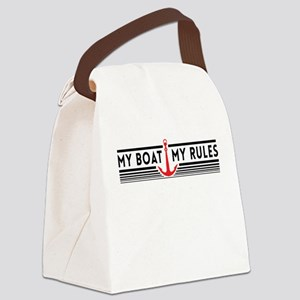 My boat my rules Canvas Lunch Bag