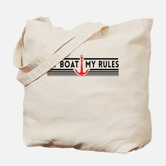 My boat my rules Tote Bag