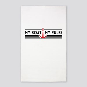 My boat my rules 3'x5' Area Rug