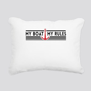 My boat my rules Rectangular Canvas Pillow