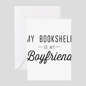 My book shelf is my boyfriend Greeting Cards