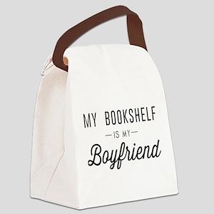 My book shelf is my boyfriend Canvas Lunch Bag