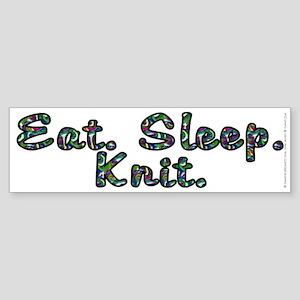 Eat. Sleep. Knit - Sticker (Bumper)