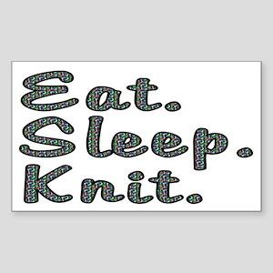 Eat. Sleep. Knit - Sticker (Rectangle)