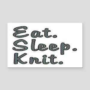 Eat. Sleep. Knit - Rectangle Car Magnet