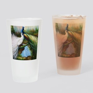 peacocks Drinking Glass