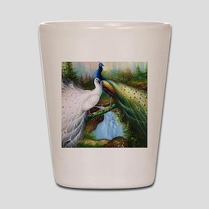 peacocks Shot Glass