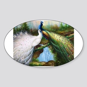 peacocks Sticker