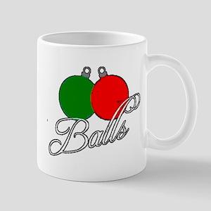 Ugly Christmas Sweater Balls Mugs