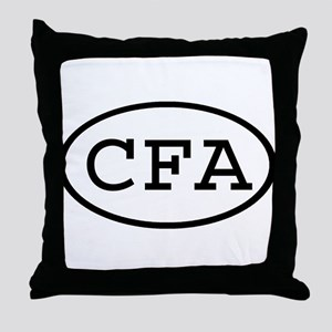 CFA Oval Throw Pillow