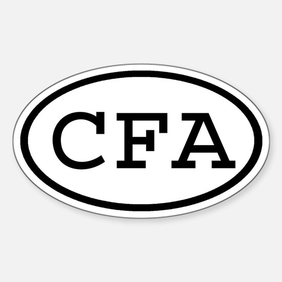 CFA Oval Oval Decal
