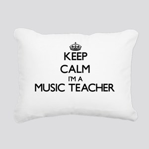 Keep calm I'm a Music Te Rectangular Canvas Pillow