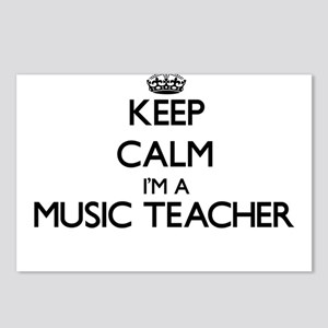 Keep calm I'm a Music Tea Postcards (Package of 8)