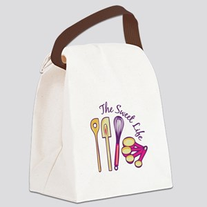 Sweet Life Canvas Lunch Bag