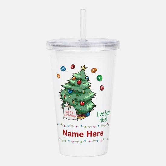 Custom Christmas Tree Acrylic Double-wall Tumbler