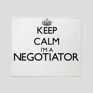 Keep calm I'm a Negotiator Throw Blanket
