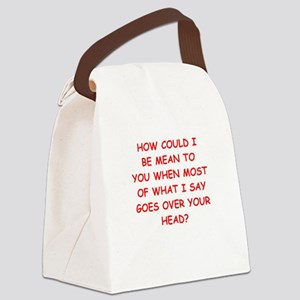 mean Canvas Lunch Bag