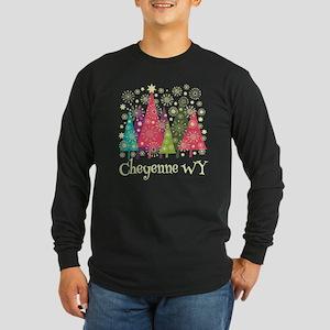Cheyenne Wyoming Long Sleeve Dark T-Shirt