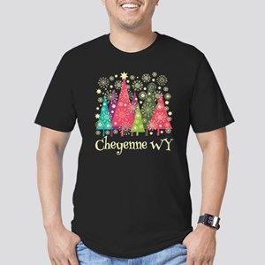 Cheyenne Wyoming Men's Fitted T-Shirt (dark)