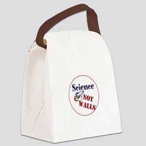 Science Not Walls, Canvas Lunch Bag