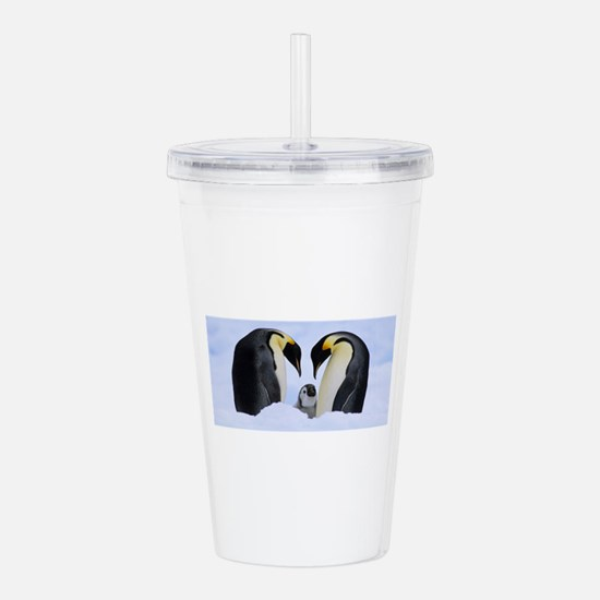 emperor penguins Acrylic Double-wall Tumbler
