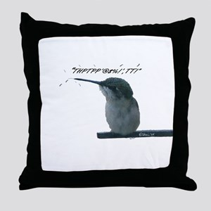 Hummingbird With Attitude Throw Pillow