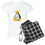 Tux The Warrior Penguin Pajamas
