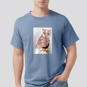 WHO! Owl with Pinecone design coat feathers brown