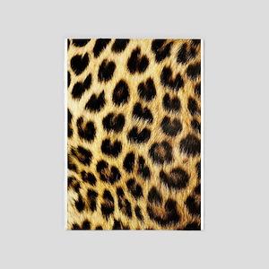 Leopard Print 5'x7'area Rug