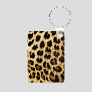 Leopard Print Keychains
