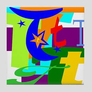 Initial Design (T) Tile Coaster