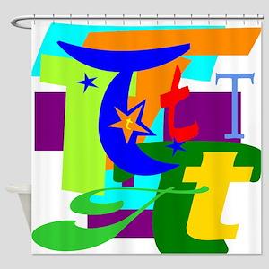 Initial Design (T) Shower Curtain